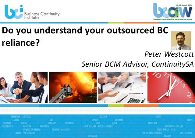 Do You Understand Your Outsourced BC Reliance?