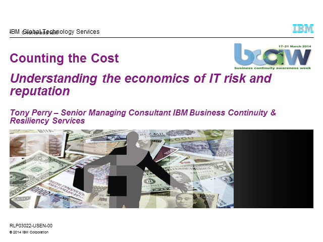 Business Continuity – Counting the Cost
