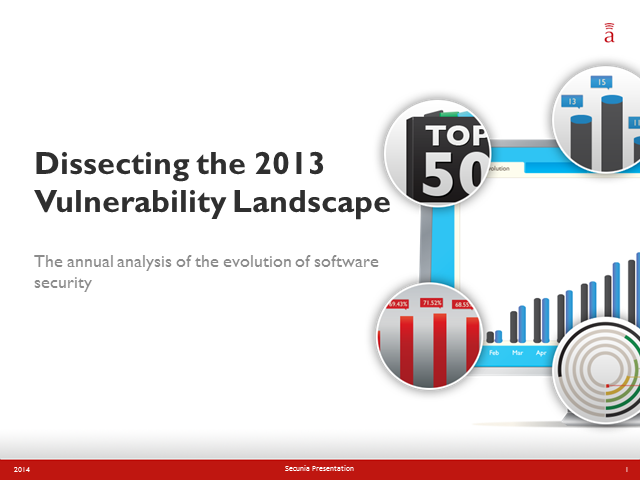 Dissecting the 2013 Vulnerability Landscape