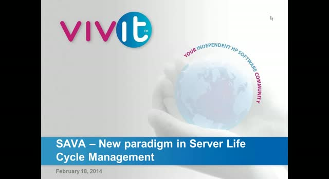 SAVA  – New paradigm in Server Life Cycle Management