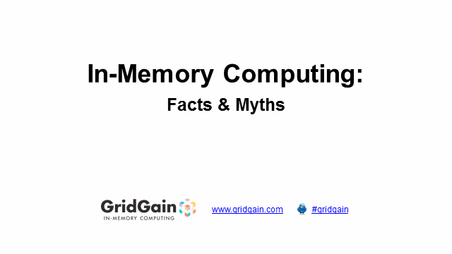 In-Memory Computing: Facts and Myths