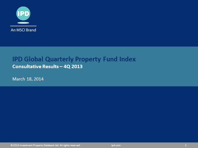 IPD Global Quarterly Property Fund Index Q4 2013 results (Americas)