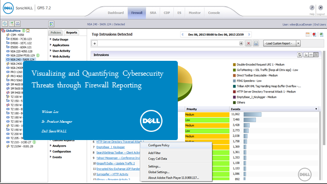 Visualizing and Quantifying Cybersecurity Threats through Firewall Reporting
