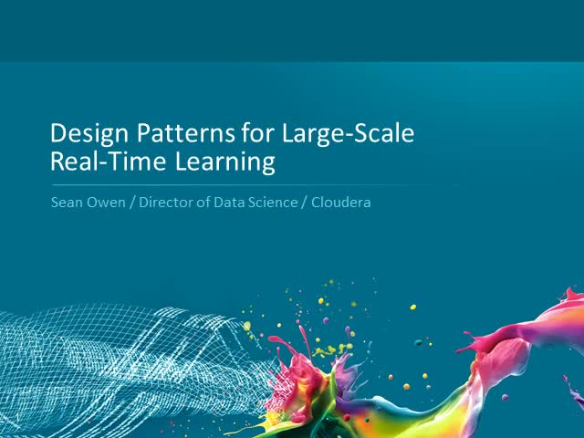 Design Patterns for Large-Scale Real-Time Learning