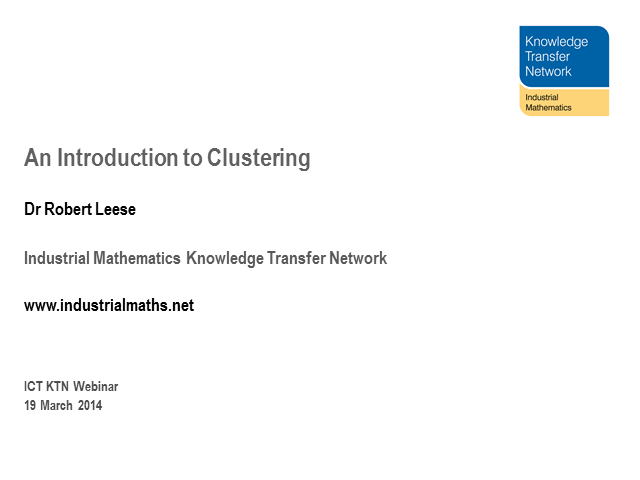 An Introduction to Clustering