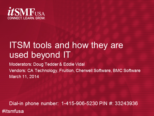 itSMF USA vendor shootout: How ITSM Tools Are Used Outside of IT