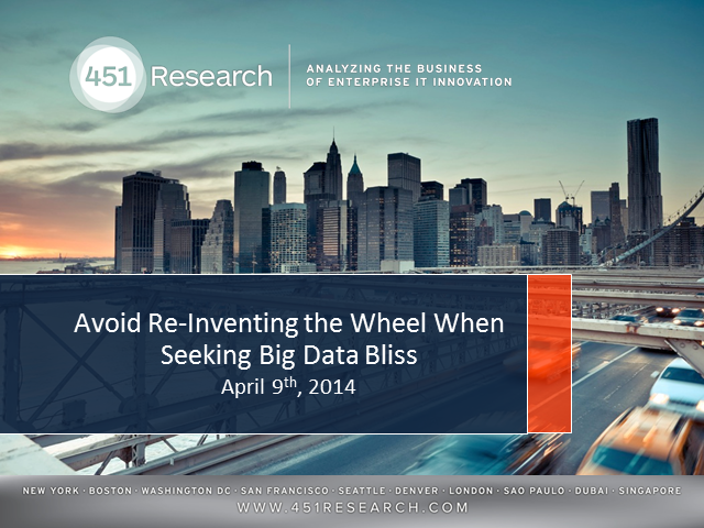 Avoid Re-Inventing the Wheel When Seeking Big Data Bliss