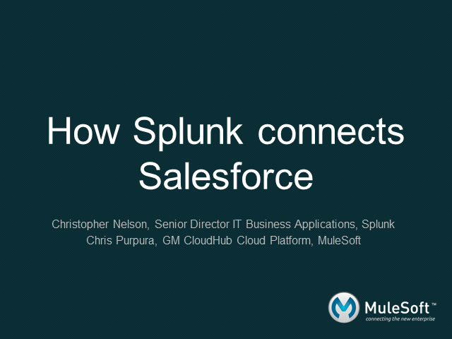 How Splunk connects Salesforce