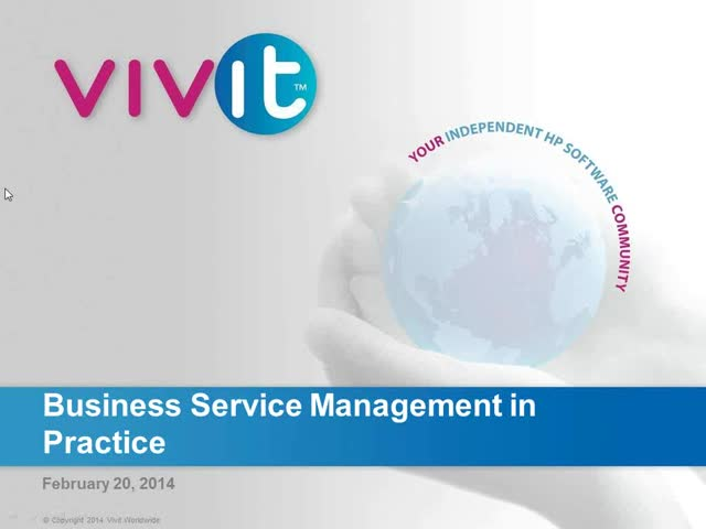 Business Service Management in Practice