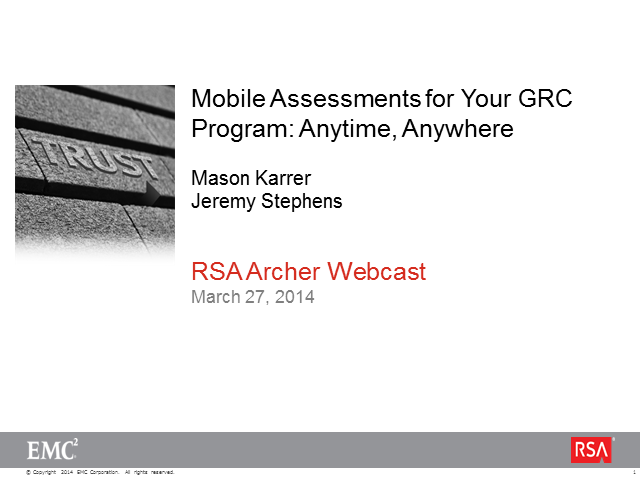 Mobile Assessments for Your GRC Program: Anytime, Anywhere