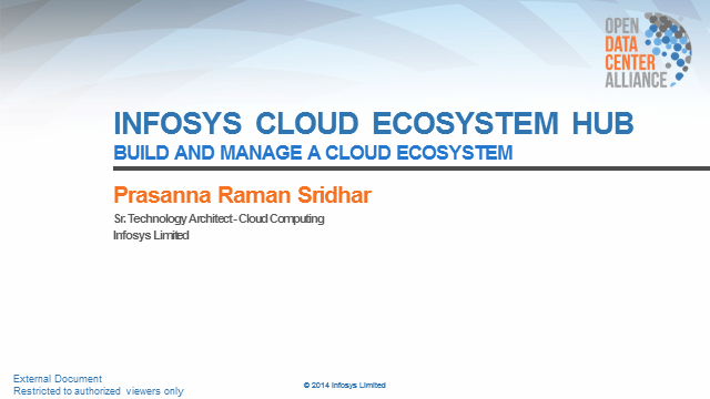 Infosys Cloud Ecosystem Hub solution