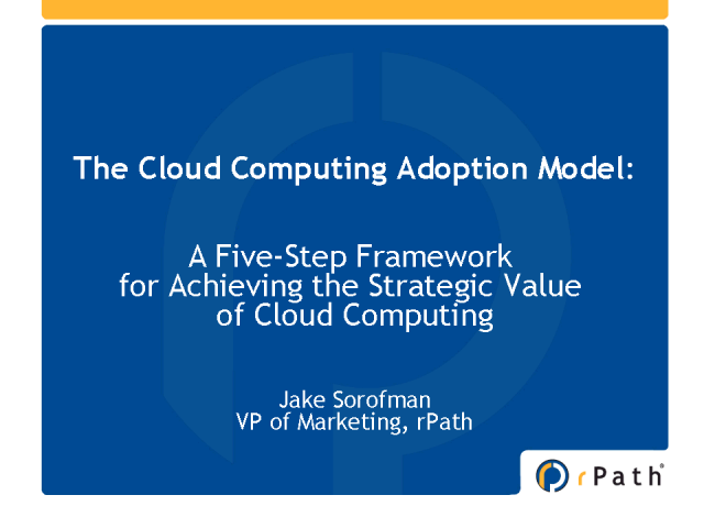 A Cloud Computing Adoption Model: A Graduated, Stepwise Approach