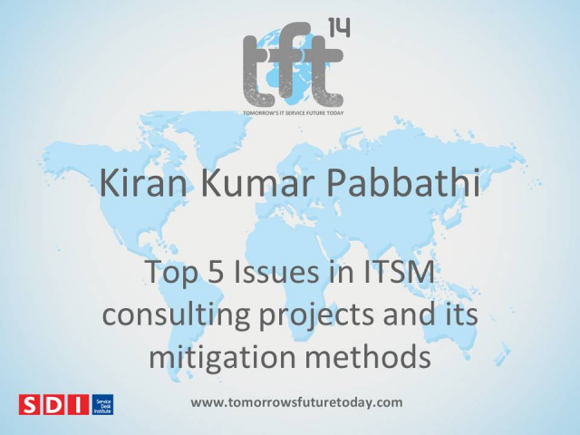 Top 5 Issues in ITSM Consulting Projects and ITS Mitigation Methods