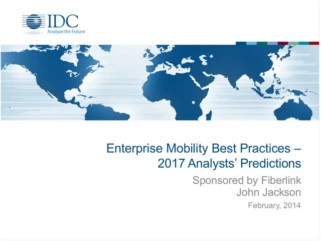 Enterprise Mobility Best Practices - 2017 Analysts' Predictions