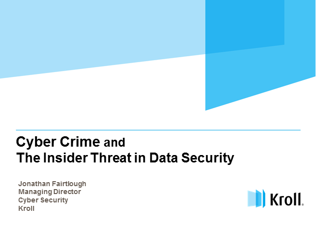 Cyber Crime and the Insider Threats in Data Security
