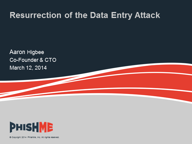 Resurrection of the Data Entry Attack