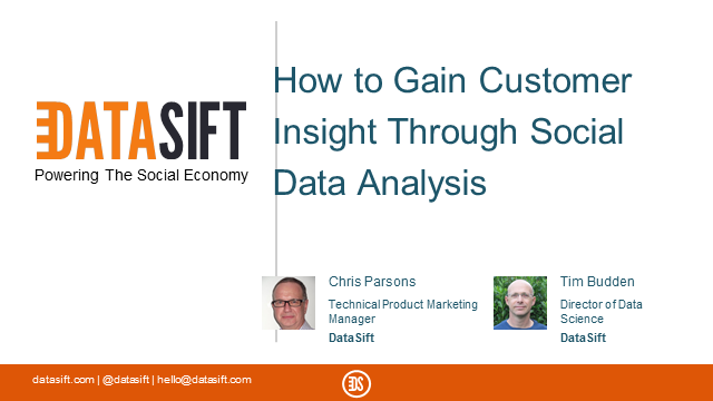 How to Gain Customer Insight through Social Data Analysis