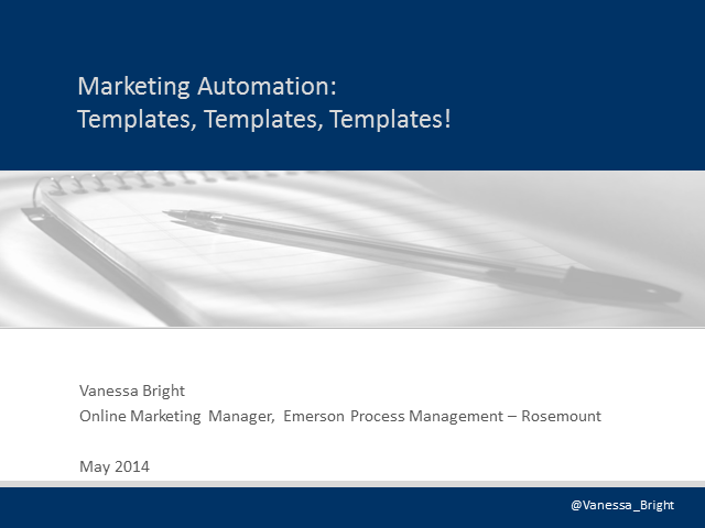 Marketing Automation: Templates, Templates, Templates!