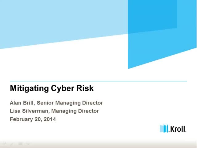 Mitigating Cyber Risk