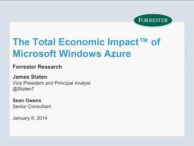 The Total Economic Impact of Microsoft Azure