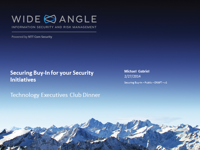 Securing Buy-in for Your Security Initiatives