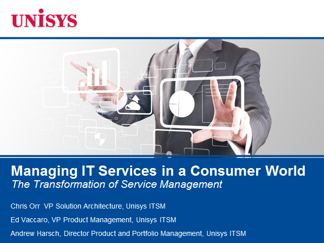 Managing IT Services in a Consumer World