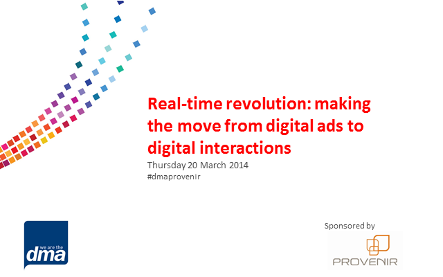 Real-time revolution: making the move from digital ads to digital interactions