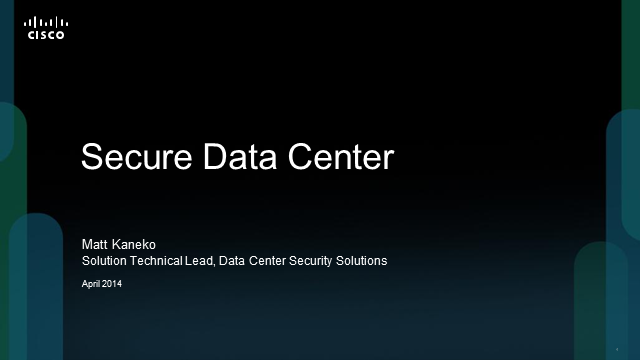 Design and Deploy Data Center Security for Business Applications