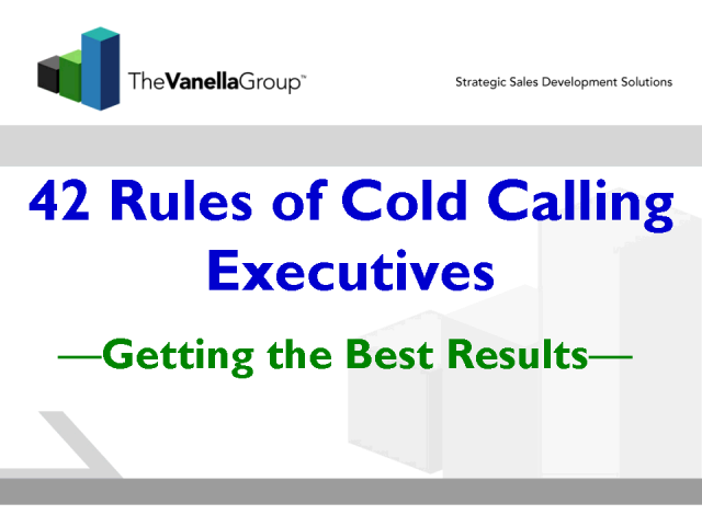 Hot Ways to Cold Call Executives