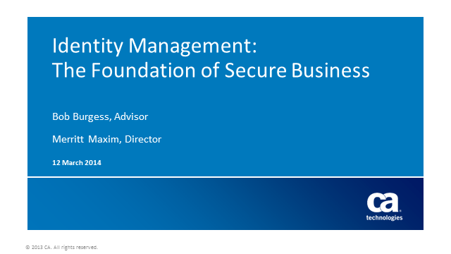 Identity Management: The Foundation of Secure Business