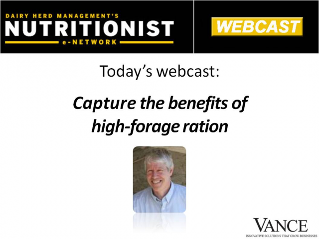 NEN Webinar: Capture the benefits of a high-forage ration