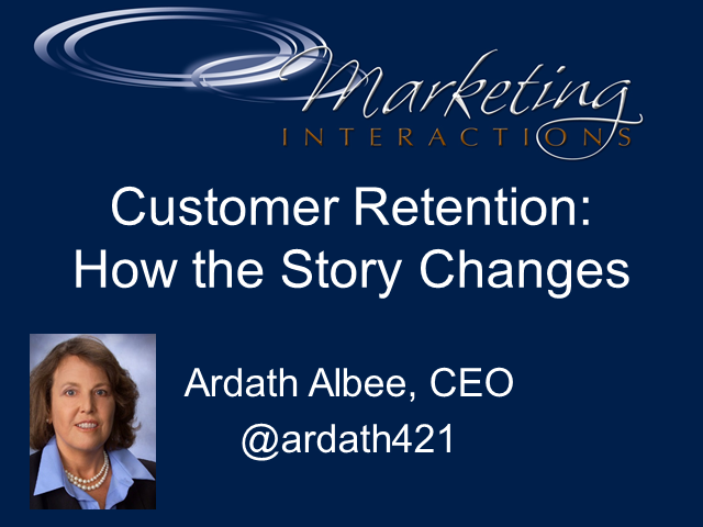 Customer Retention: How the Story Changes