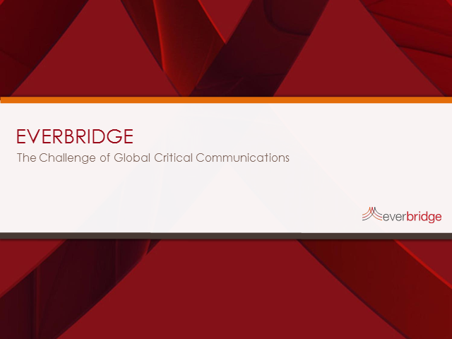 The challenge of global critical communications: think global, act local
