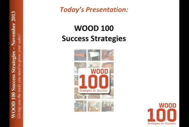 Marketing & Investment Strategies of the WOOD 100