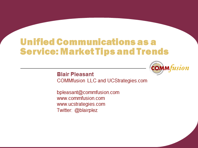 Unified Communications as a Service: Market Tips and Trends