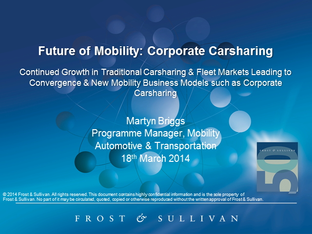 Future of Mobility: Corporate Carsharing