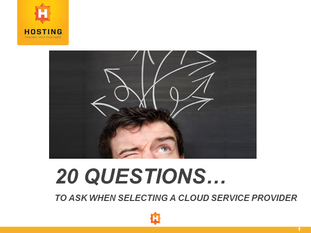 20 Questions to Ask When Selecting a Cloud Service Provider