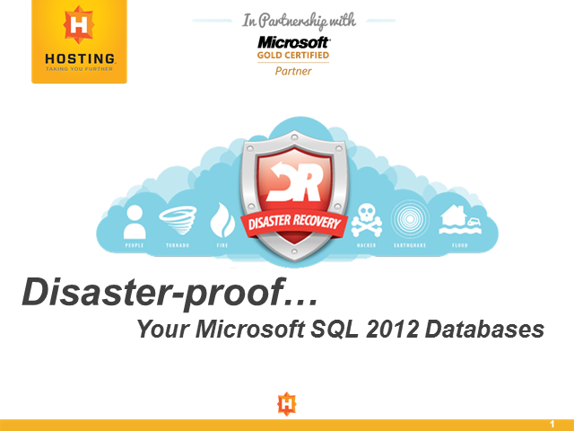 Disaster-proof Your Microsoft SQL 2012 Databases