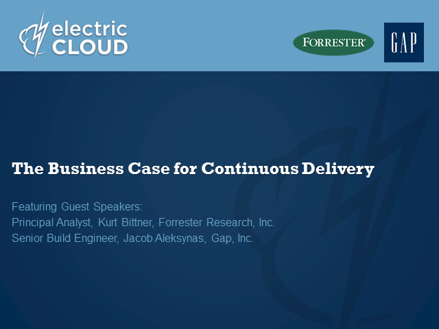 The Business Case for Continuous Delivery