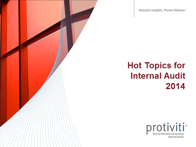 Hot Topics for Internal Audit in 2014