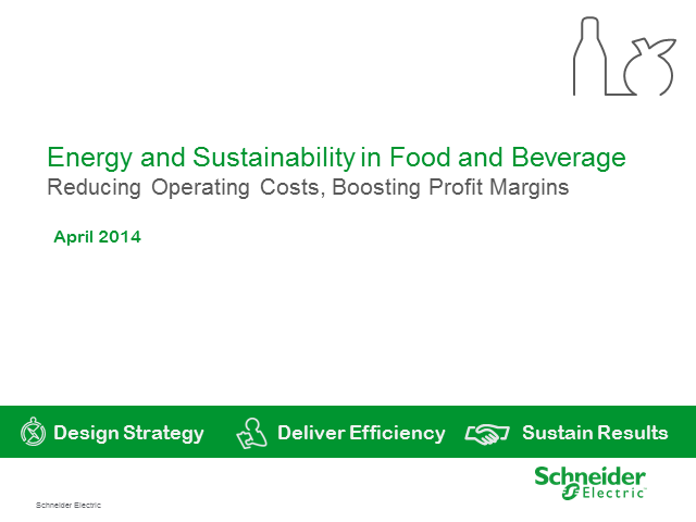 Energy & Sustainability - reducing operating costs & boosting profit margins