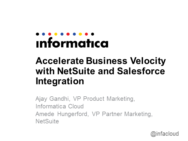Accelerate Business Velocity with NetSuite and Salesforce Integration