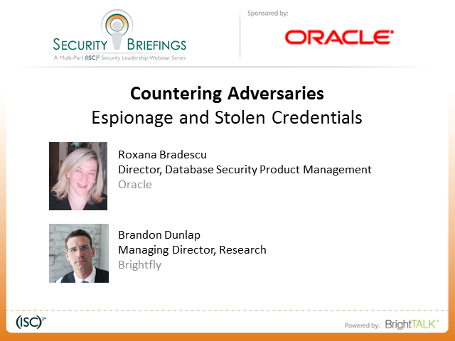 Countering Adversaries Part 1: Espionage and Stolen Credentials