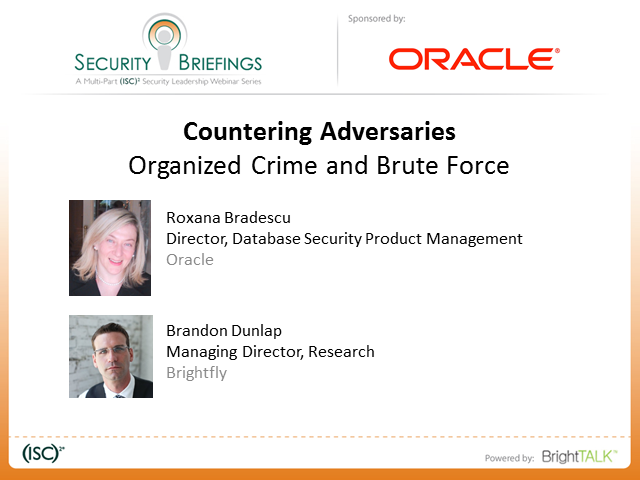 Countering Adversaries Part 2: Organized Crime and Brute Force
