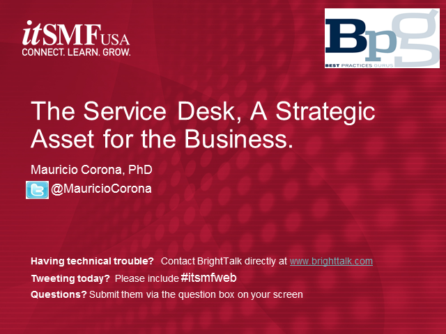 The Service Desk, A Strategic Asset for the Business