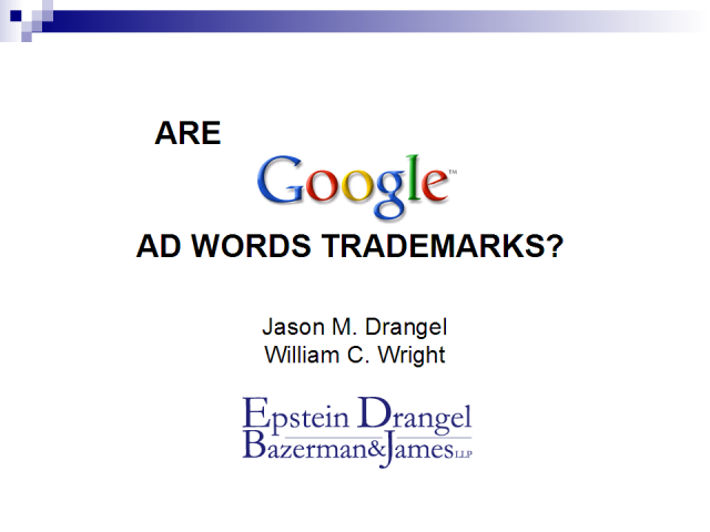 Are Google Adwords Trademarks?