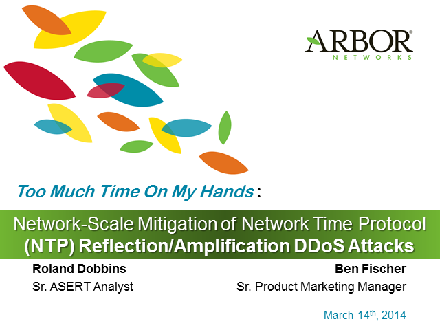 Too Much Time on My Hands:  Network-Scale Mitigation of NTP DDoS Attacks