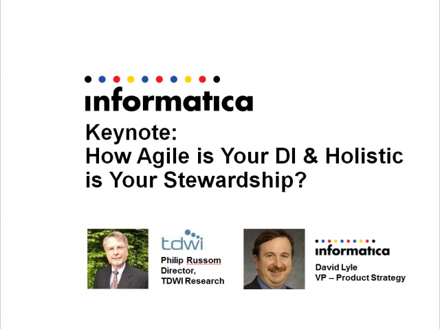 Great Data by Design I: Agile Data Integration and Holistic Data Stewardship