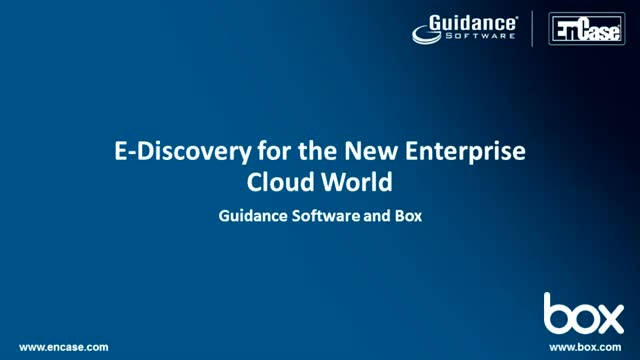 E-Discovery For The New Enterprise Cloud World
