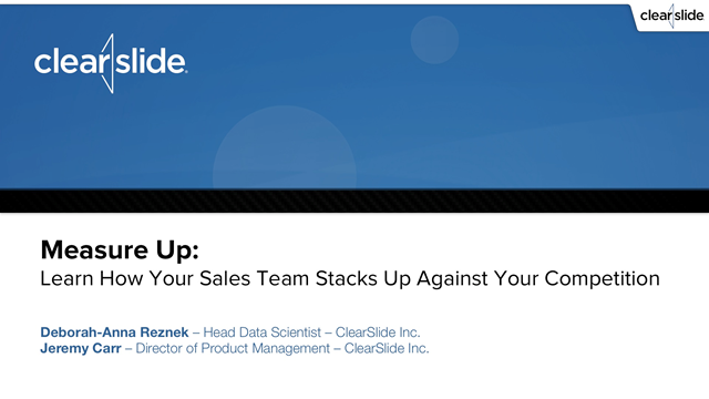 Measure Up: Learn How Your Sales Team Stacks Up Against Your Competition